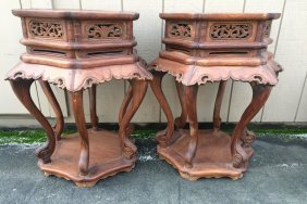 20th Century Rosewood End Tables