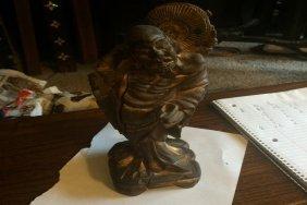 Rosewood Buddha Statue