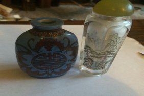2 Glass Snuff Bottles