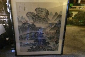 Large Chinese Painting Framed