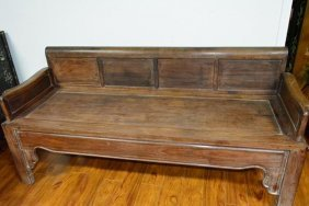 Antoque Chinese Rosewood Bench