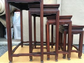 Rosewood Nesting Table