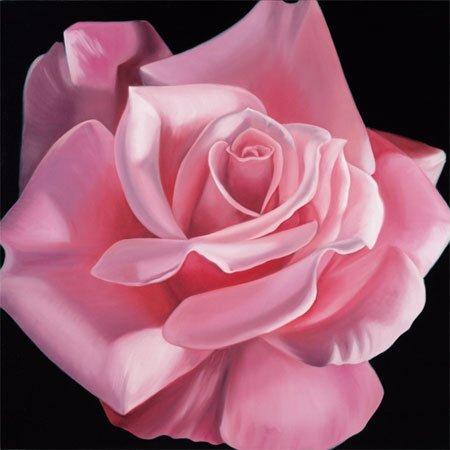 2000: Floral Giclee Print Pink Rose American Buer