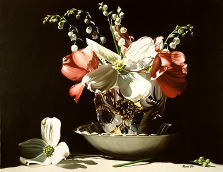 2002: Floral Giclee Print Dogwood American Buer