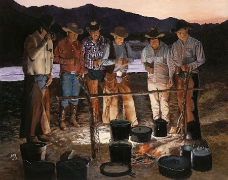 2054: Giclee Print Cowboys Western American Rogers