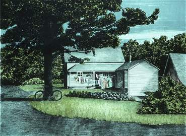 2170: Lithograph Limited Landscape American Conant