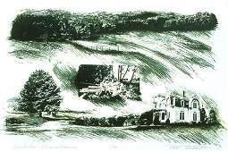 2171: Lithograph Limited Landscape American Conant
