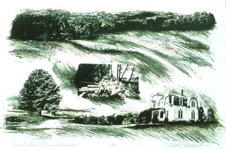 2171: Lithograph Limited Landscape American Conant
