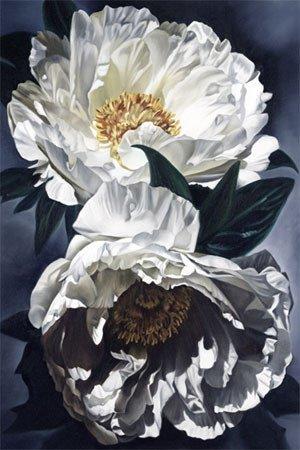 3001: Flower Oil Painting White American Buer