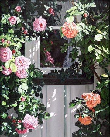 3003: Flower Painting Roses American Window Buer