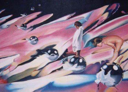 3021: Painting Children American Blue Latorre