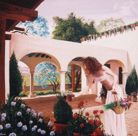 3022: Spanish Painting Flower American Latorre