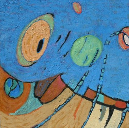 3044: Painting Abstract Music American Blue Shafman