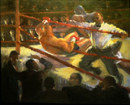 3074: Figure Painting Boxing American Anderson