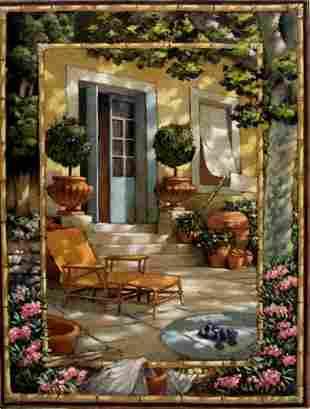 Painting French Door Blue Garden Alberti