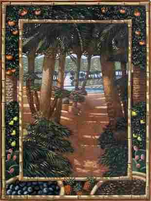 Painting American Brown Bamboo Tree Alberti