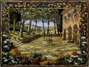 Tuscan Painting Italian American Alberti