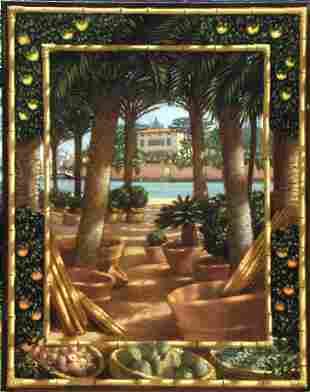 Italian Painting Palm American Brown Alberti