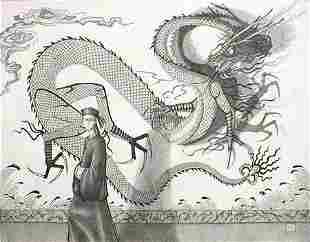 Fantasy Dragon Asian Drawing Chinese Saxon
