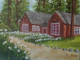 Painting American Landscape House Goldner