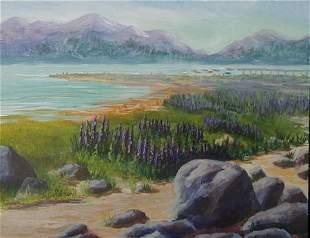 Painting Lake Water American Blue Goldner