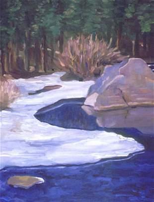 Painting Water Snow American Blue Silverstein