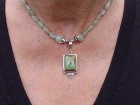 11074: Jewelry Necklace Aqua Marine Silver Deia