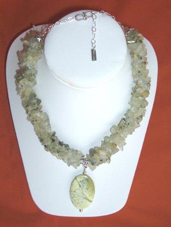 11080: Turquoise Necklace Silver Jewelry Artesana