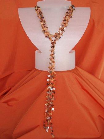 11082: Yellow Necklace Silver Jewelry Artesana