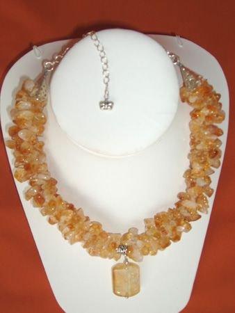 11085: Necklace Silver Citrine Jewelry Artesana Rozo