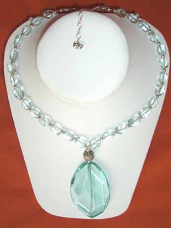 11086: Necklace Silver Crystal Jewelry Artesana Rozo