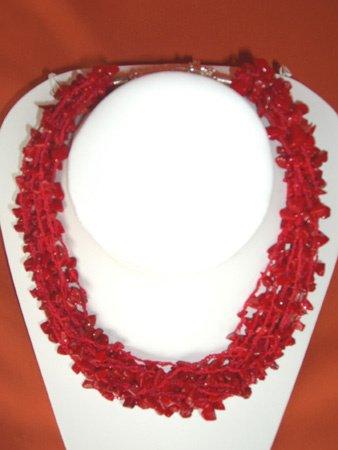 11091: Necklace Silver Coral Jewelry Artesana Rozo