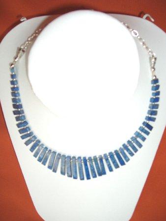 11096: Necklace Silver Lapis Jewelry Artesana Rozo