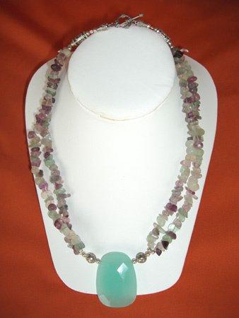 11097: Necklace Silver Crystal Jewelry Artesana Rozo
