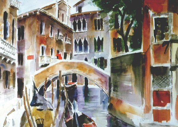 203: Venetian Canal, By Laurie Woolverton