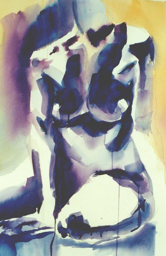 205: Figure in Blue & Purple,  Woolverton