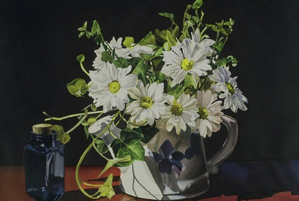 402: Daisies and Ivy, By Jeannine Swartz