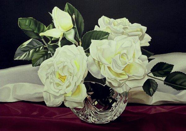 407: Roses on Wine, By Jeannine Swartz