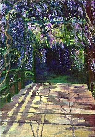 Wisteria Bridge, By Deborah Chapin