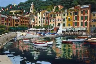 Portofino Piazza, By Lauire Chase