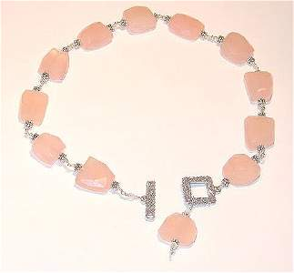 2921: Pink Lemonade Chunky Necklace