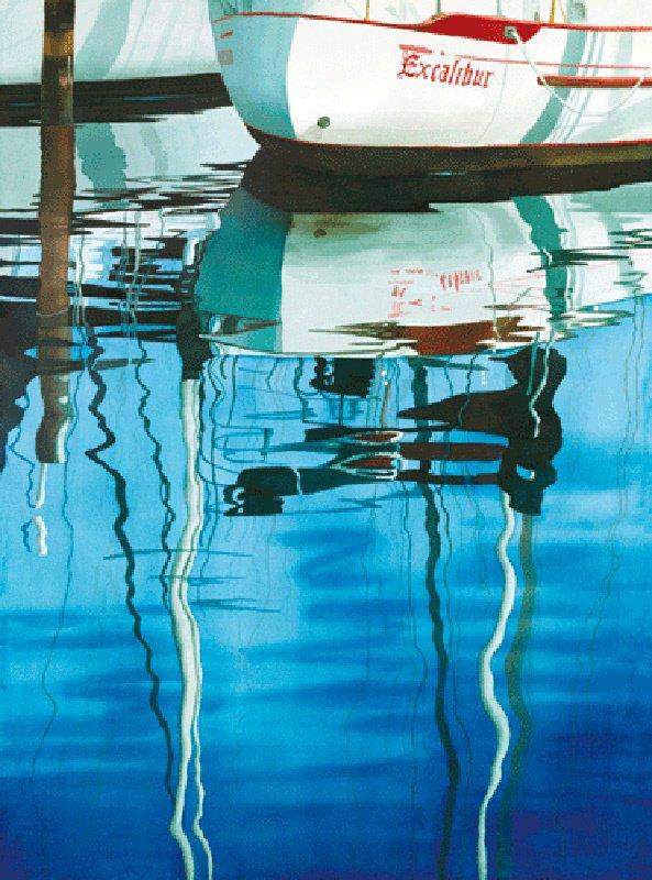 1001: Boat Nautical Florida Water Blue Print Buer