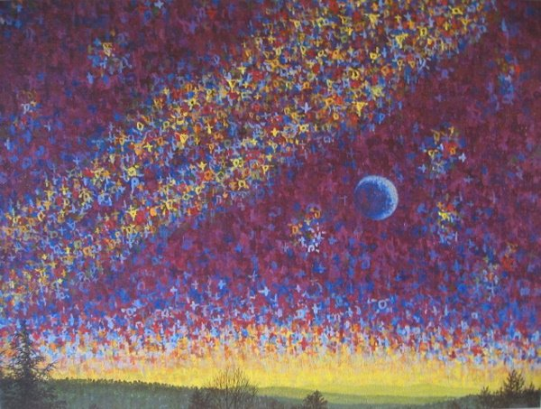 1010: Artist Proof Print Blue Landscape by Chong