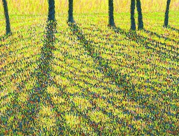 1019: Artist Proof Print Gold Fall Tree by Chong