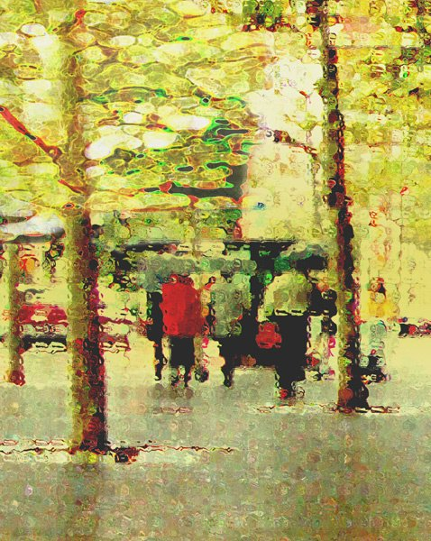 1020: Digital Print Tree Green New York by Cramer