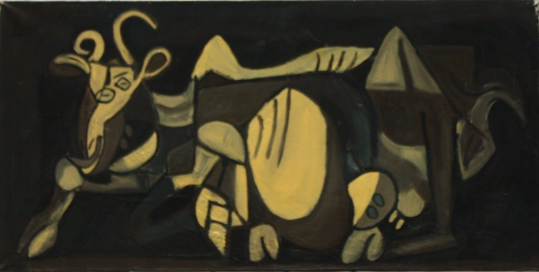 Oil on canvas signed Picasso.