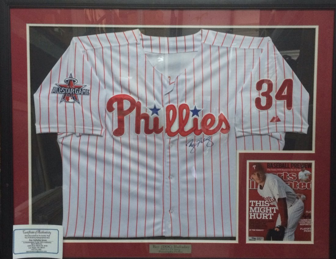 Roy (Doc) Hallaway Phillies signed jersey.