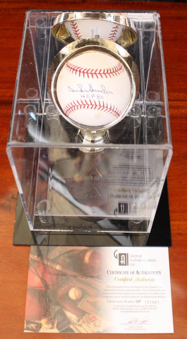 Duke Snyder signed baseball