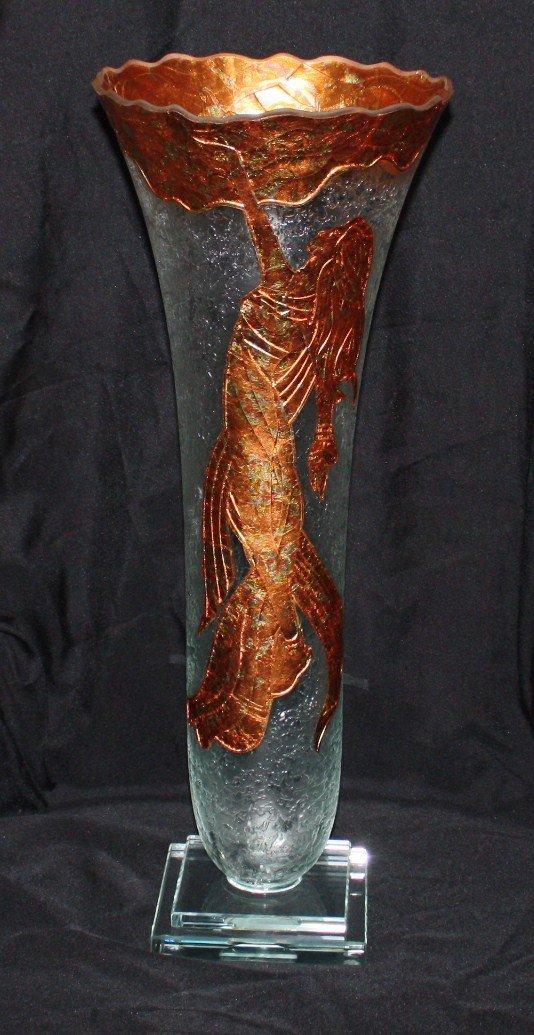 Crystal and 24kt Gold Custom Display Bud Vase