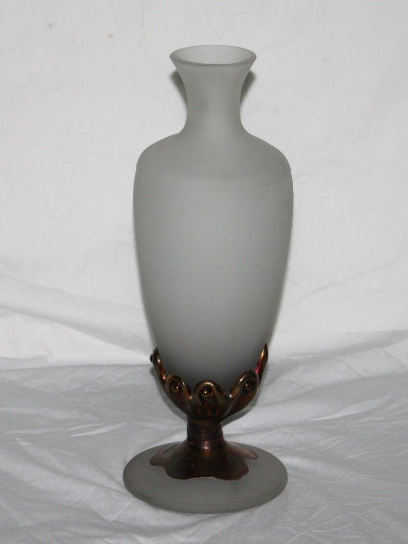Glass and Bronze Vase, Handmade